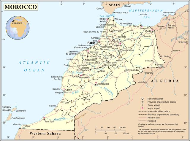 Cartina Geografica Fisica Del Marocco.L Anomala Primavera Del Marocco Il Caffe Geopolitico