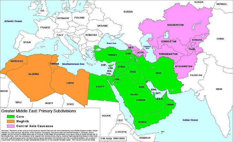 Cartina Europa E Medio Oriente.Prospettive Storiche E Strategiche Del Medio Oriente Che Cambia Il Caffe Geopolitico